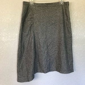 Banana Republic Wool Blend Asymmetrical Hem Skirt